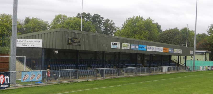 Main stand of Oxford city's football ground