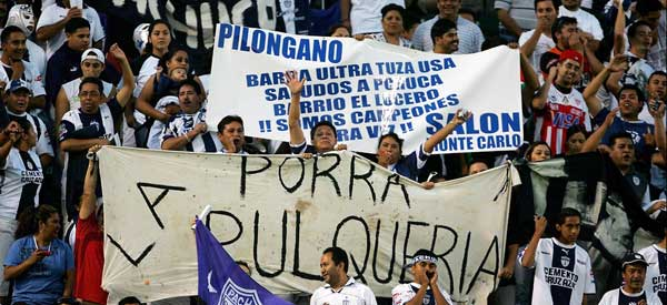 Pachuca CF supporters inside the stadium