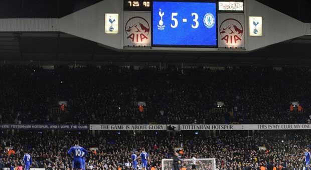 Spurs 5, Chelsea 3 at White Hart Lane