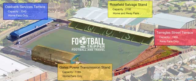 Palmerston Park Stadium map