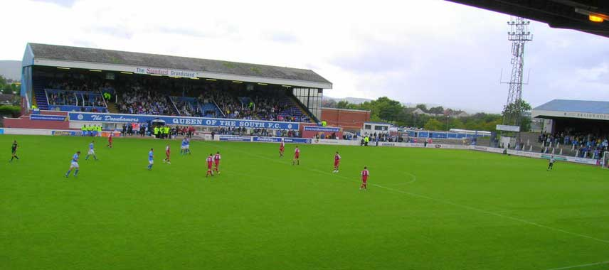 The pitch at Palmerston Park on matchday