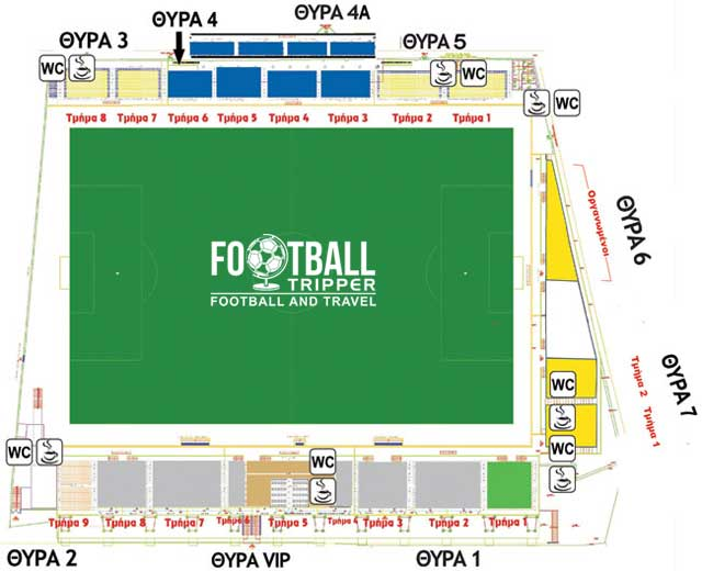 Panetolikos Stadium map