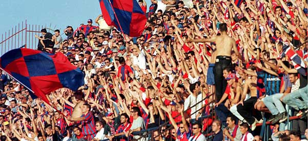 Panionios GSS supporters inside the stadium