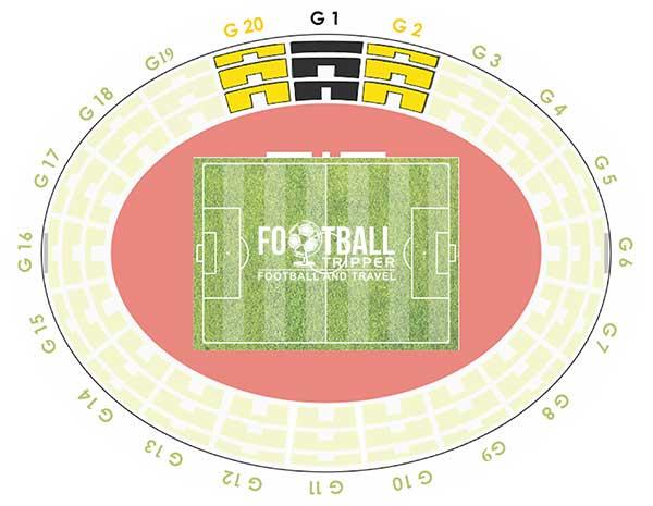 Map of Pankritio Stadion