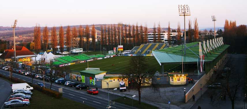 Main stand of Pappelstadion