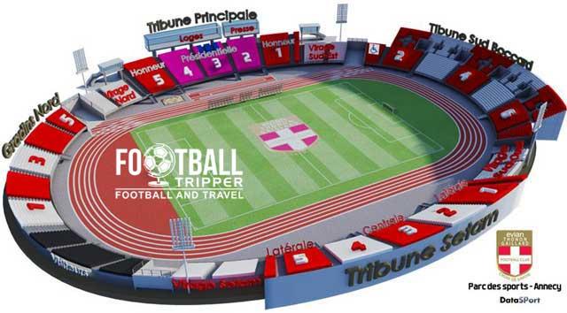 Parc Des Sports Annecy Stadium Plan