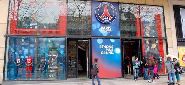 Exterior of PSG Club shop