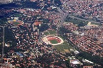 Aerial view of Partizan Stadium