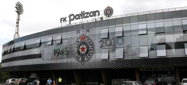 Main entrance of FK Partizan's stadium