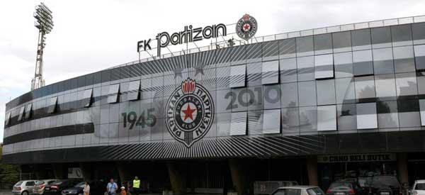 Main entrance of FK Partizan's stadium