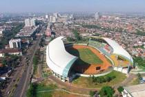 Aerial view of Indonesia's Patriot Stadium