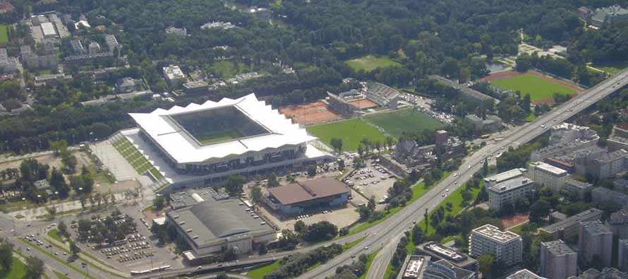 Aerial view of Pepsi Arena Polish Army Stadium