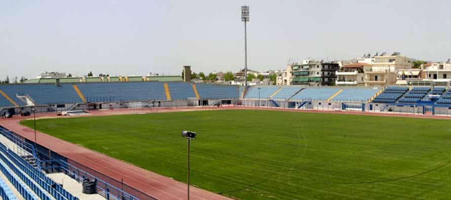 Inside Peristeri Stadium