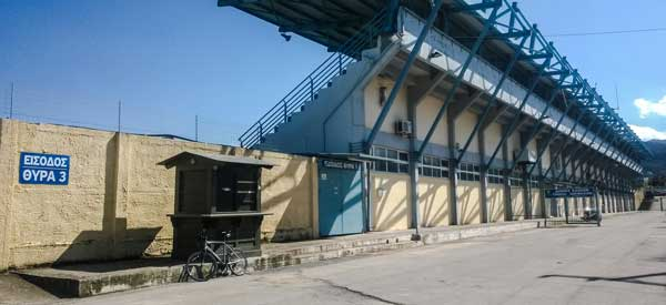 Exterior of Perivolia Municipal Stadium