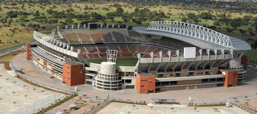 Aerial view of Peter Mokaba Stadium