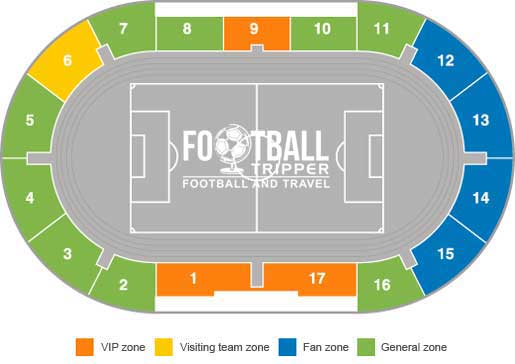 Zenit Petrovsky Stadium seating plan