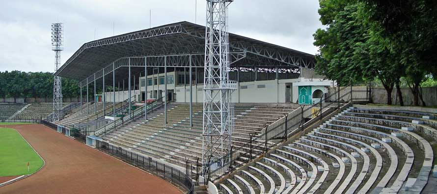 Main stand of Petrokimia stadium