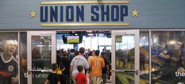 Inside Philadelphia Union Club Shop