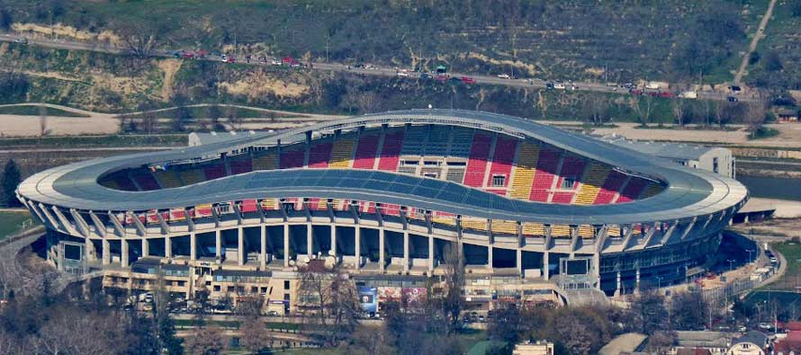Distant view of Philip II Arena