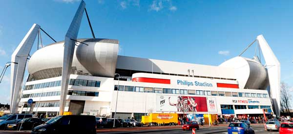Outside Philips Stadion
