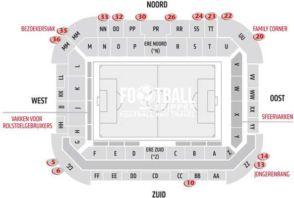 PSV Stadion Seating Chart