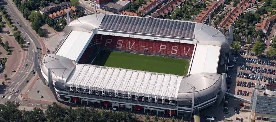 Aerial view of Philips Stadion