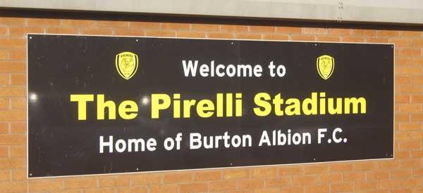 Pirelli Stadium Welcome Sign
