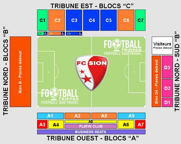 Seating plan for FC Sion's Stade Tourbillon