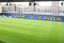 Inside view of Plough Lane Stadium's East Stand