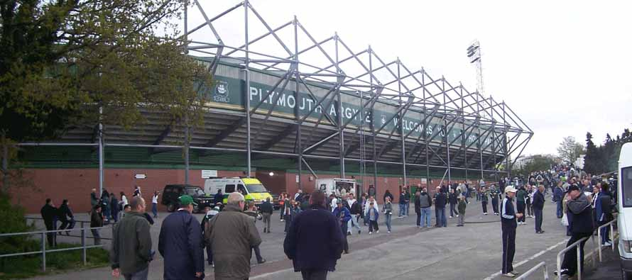 Huish Park Exterior on matchday