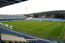 Corner view of the pitch at Podgorica Stadium