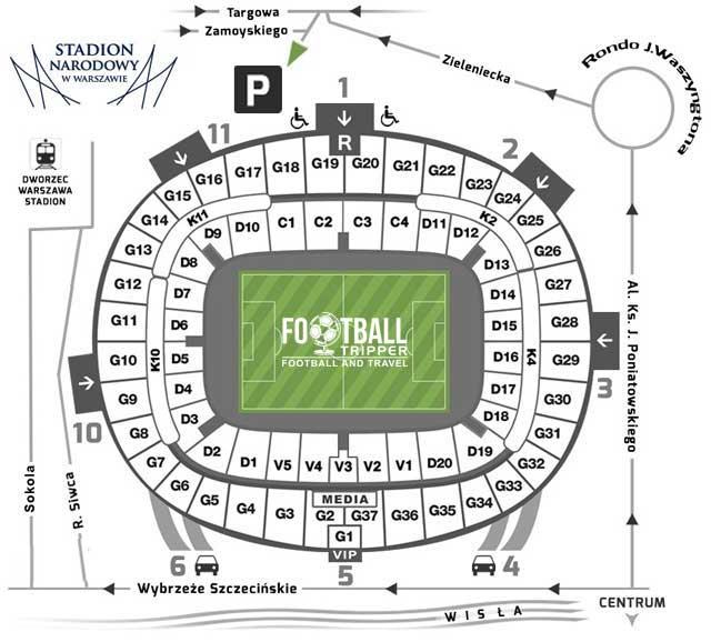 National Stadium Warsaw Seating Plan