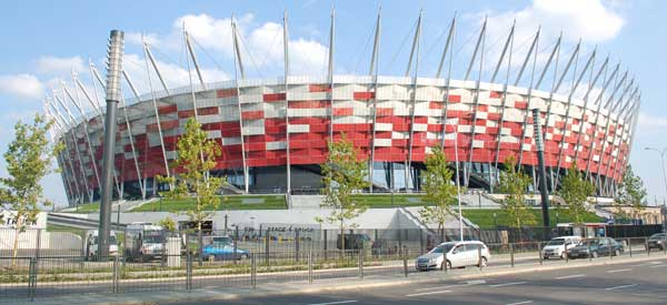 Exterior of Poland's National Stadium
