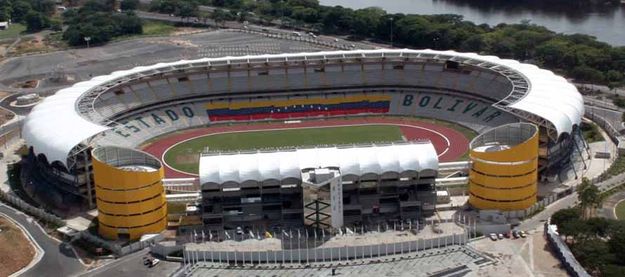 Aerial view of polideportivo Cachamay