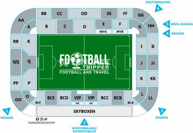 Polman Stadion seating plan