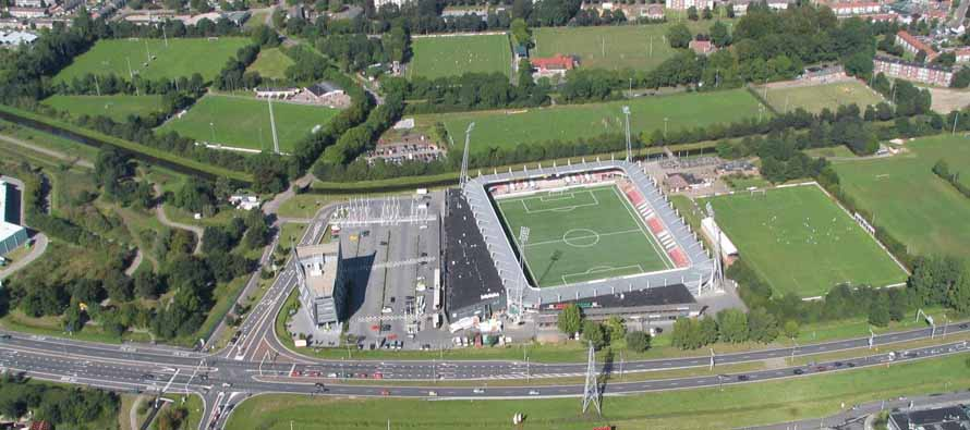Aerial view of Polman Stadion