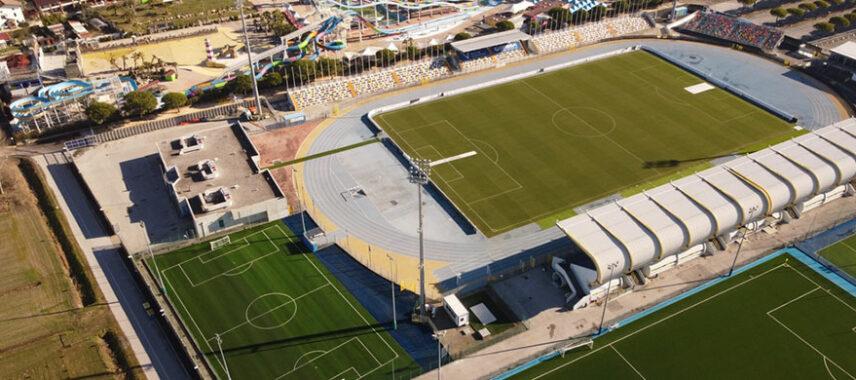 Aerial view of Pordeneone calcio stadium