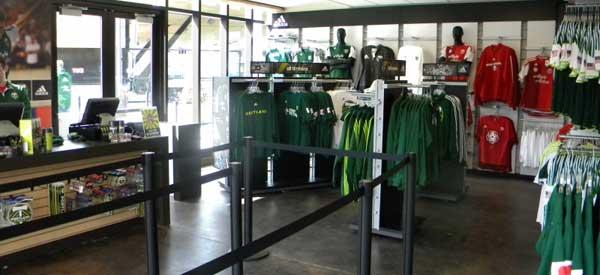 Inside Portland Timbers Shop