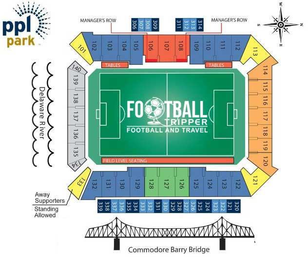 PPL Park Seating Plan Philadelphia
