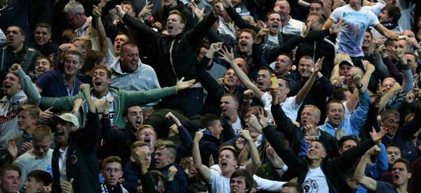 These Preston fans look like a rowdy lot!