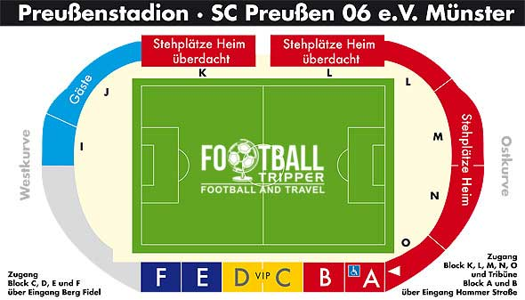 Preußenstadion map