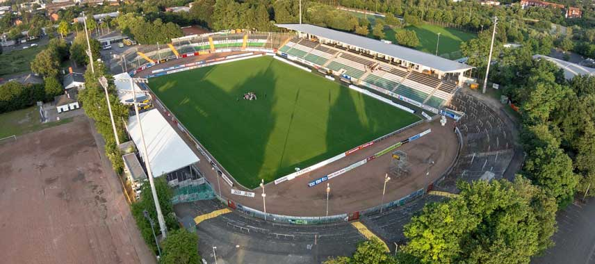 Aerial view of Preubenstadion