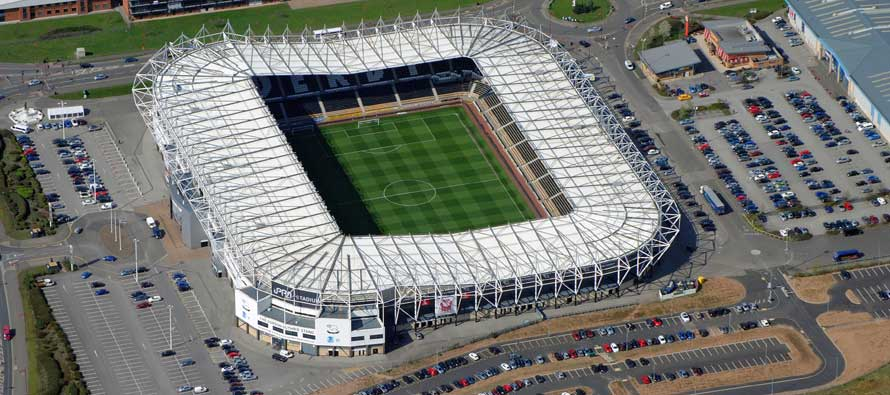 The Rams Stand at Pride Park