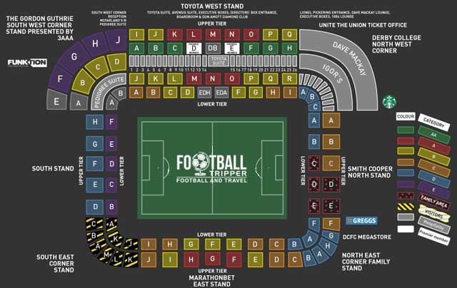 Pride Park Stadium Guide Derby County F C Football Tripper