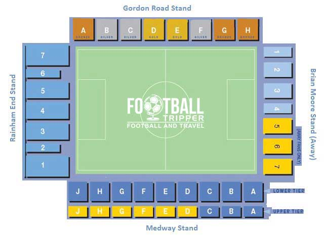 Priestfield Stadium Gillingham Seating Plan