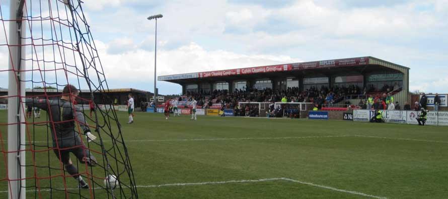 Main stand at Priory Lane stadium