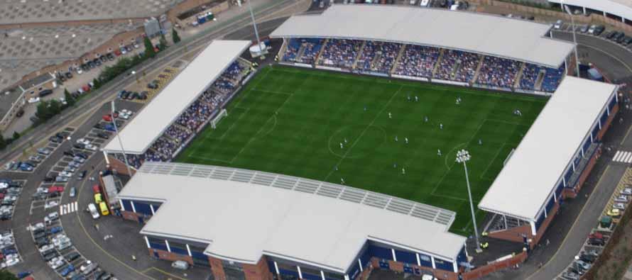 Aerial View of Proact Stadium