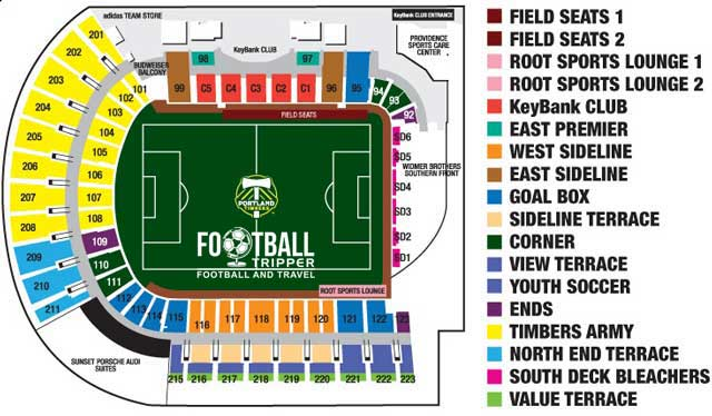 Providence Park Seating Plan