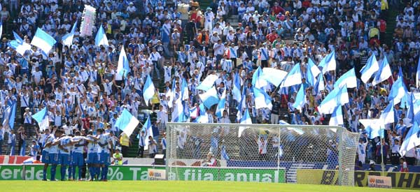 Puebla FC supporters inside the stadium
