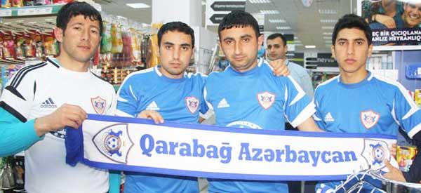 Qarabag football fans